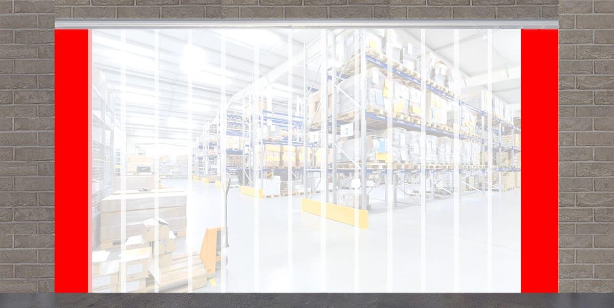 PVC Streifenvorhang Lamellenvorhang B 2,75m x H 2,75m